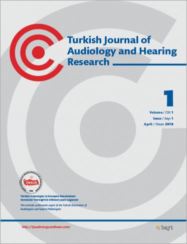 Türk Odyoloji ve İşitme Araştırmaları Dergisi