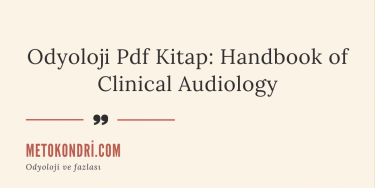 2) Odyoloji Pdf Kitap: Handbook of Clinical Audiology